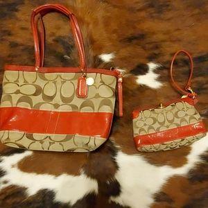 Coach purse & wristlet